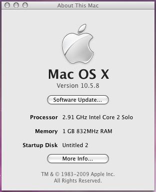 Mac OS X 10.5.8